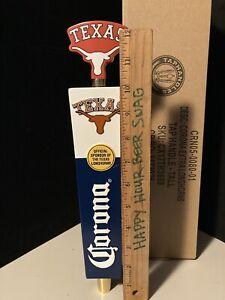 New Corona Extra Tall Texas Longhorns College Beer Tap Handle Bar Kegerator Lot