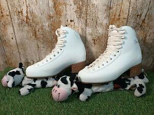 Risport White Ice Skates Italian Design Light Rotation Elder Size 245 UK 4 EU 37