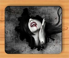 VAMPIRE SEXY GIRL RED LIPS MOUSE PAD -fdc5Z
