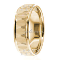 18K YELLOW GOLD MENS WOMENS 7MM WIDE COMFORT FIT WEDDING BANDS RINGS MADE IN USA