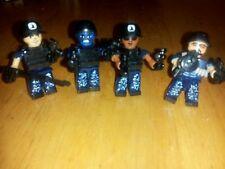 Lego Custom Blue Camo Commando  NAVY SEAL TEAM 4 TOTAL