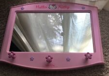 "Hello Kitty large 24""x20"" Mirror with hooks for child for hello kitty fan"