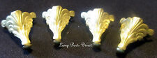 """(Lot of 4) Stamped Brass Box Feet (unfinished) 1"""" Ht"""