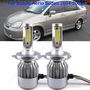 For Suzuki Aerio Sedan 2004-2002 Beam NEW LED Headlight Kit  H4/9003