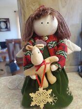 Delton 11.5� Christmas Cloth Rag Doll * Nice