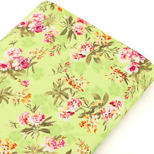 Cotton Fabric by FQ Wild Flower Retro Floral Print Dress Quilting Patchwork VK84
