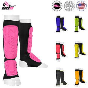ADii™ Brand Shin Instep Pads Leg Support Muay Thai Kickboxing Training Protector