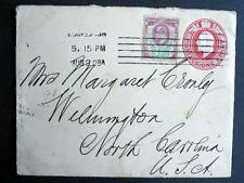 UK STAMPED ENVELOPE LONDON 1908 TO USA