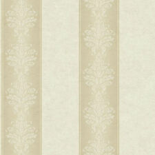 Tan and Cream Damask Stripe Wallpaper  RL9546  per Double Roll    FREE SHIPPING