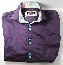 Bertigo Paisley Men's 2 / Small Purple Long Sleeve Button Down Dress Shirt