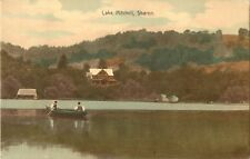 A View Of Lake Mitchell, Two Men In A Boat, Sharon, Vermont VT