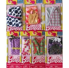 LOT of 7 Genuine Mattel Barbie Doll Dolls Fashion Clothing Clothes Dress Dresses