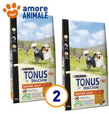 2 SACCHI - Purina Tonus Mature Adult 14 kg - Crocchette per cane adulto al Pollo