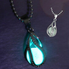 Creative Glow in the dark Necklace The Little Mermaid's Teardrop Charm Jewelry