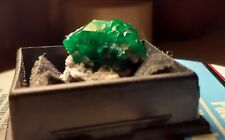 Dioptase crystals beautiful vivid green gem. Namibia found