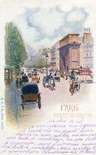 Carte PARIS X 10 Porte Saint Martin Illustré par Hanche