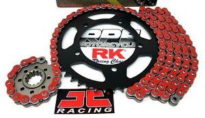 Red 2001-06 Suzuki GSXR1000 RK MAX-X 520 17/42 OEM Ratio Chain and Sprockets Kit