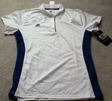 Russell Athletic Polo Shirt Sz M White & Royal Blue MSRP: $33.99 Buy Now: $9.99
