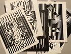 16 Victor Vasarely prints offset lithographs Lineaires / Ondulatoires portfolios