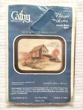 Vintage Cathy Counted Cross Stitch Kit NIP NOS Unopened Barn Farm Country / E-1