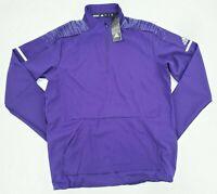 ADIDAS Team Iconic 1/4-Zip Long Sleeve Pullover CZ0776 Purple Size Medium NWT