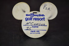 Disney World Golf Classic FL PGA Pro Mark McCumber Mickey Mouse Blue Ear Bag Tag