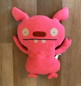 "UglyDoll Puglee 12"" Plush Pink Coral DISCONTINUED 2007 Stuffed Animal Plush"
