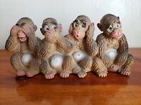 Monkeys Of Wisdom Molded Plastic Universal Statuary Corp 1969 See No Evil
