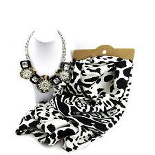 Joyas Bundle Monocromo Leopardo Estilo Bufanda Y Conjunto De Collar Para Mujer