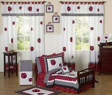 Jojo Designs Red and White Polka Dot Lady Bug Girl Toddler Kid Bedding Sheet Set