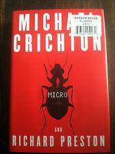 Micro No. 4 by Michael Crichton and Richard Preston (2011, Hardcover) STORE#3564
