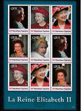 Togo 2013 MNH Reign Elizabeth II 9v Sheetlet II Queen Royalty La Reine Togolaise