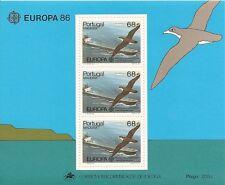 PORTUGAL-Madeira-Souvenir Sheet nr.85-1986-EUROPA-CEPT-3 MINT stamps.Af.nr.1758
