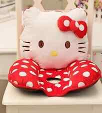 "Hello Kitty Head Seat Back Cushion for Chair Car Office Cushion Pillow Red 16""-1"