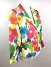 We. You and Me Women's 100% Linen Multicolor Blazer Size 2