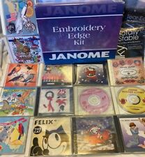 14 Janome Memory Cards Lot Embroidery Design Animals Variety Christmas Felix Cat