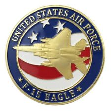 U.S. United States Air Force USAF | F-15 Eagle | Gold Plated Challenge Coin
