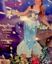 Girls Little Mermaid Beauty Costume Size M (8-10)Multi Color Halloween