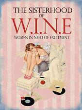 Sisterhood of Wine Drink Pin up Girl Retro Records Funny Novelty Fridge Magnet