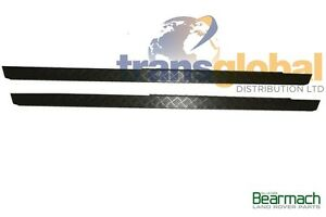 Land Rover Defender 110 2mm Black Chequer Plate Sill Protectors Bearmach BA127B