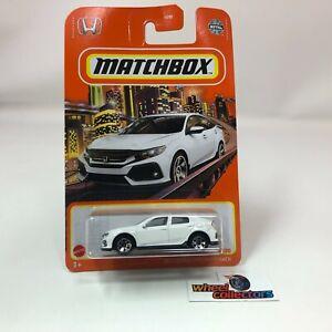 2017 Honda Civic Hatchback * White * 2021 Matchbox Case V