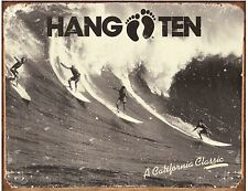 Hang Ten Surfing wall Sign for Office Shed or Camper Van