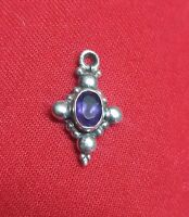 925 Sterling Silver Pendant Natural Amethyst Gemstone Handmade Pendant