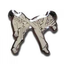 Kicking Martial Arts Pin