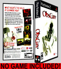 Obscure - PS2 Reproduction Art DVD Case No Game