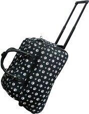"Women's Black Paw 21"" Rolling Duffel Bag Suitcase Garment Carry-on Duffel Bag"