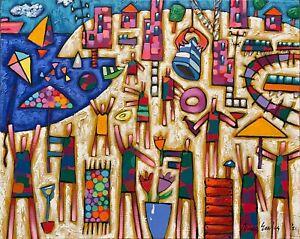 """BRUCE EARLES """"The Beach Gig"""" Original Oil on Canvas Painting, 2021 - 60cm x 75cm"""