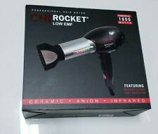 CHI Rocket Low EMF Professional Hair Dryer 1800 Watts Infrared Ionic Heat