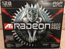 ATI Radeon 9800 PRO 128MB DDR SDRAM AGP 4x/8x Graphics Card - New Open Box!