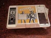 Casio Game Western Bar hand held retro video game for parts